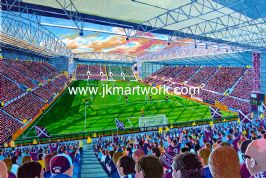Hand Painted original of new tynecastle park